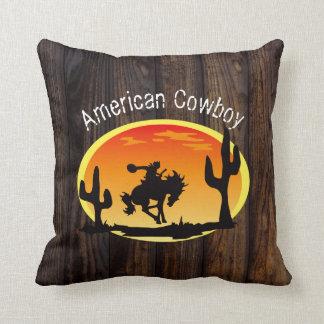 American Cowboy Throw Pillow