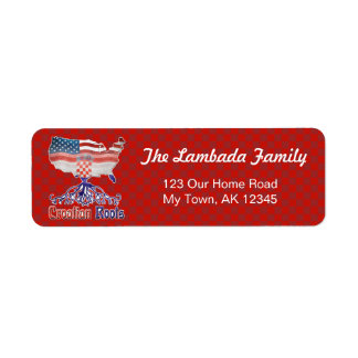 American Croatian Roots Address Labels Template