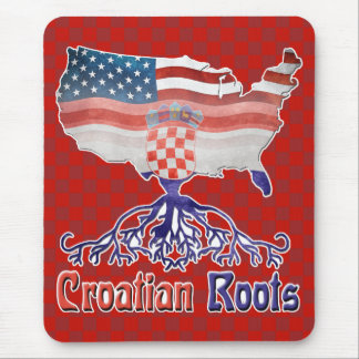 American Croatian Roots Mousemat Mouse Pad
