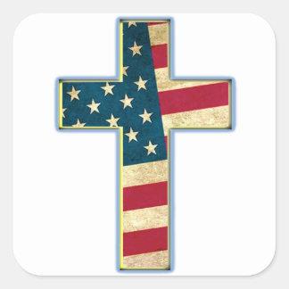 American Cross #2 Square Sticker