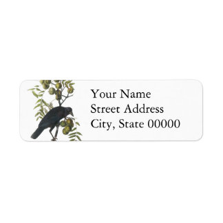 American Crow, John James Audubon Return Address Label