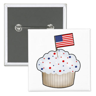 American Cupcake Pin