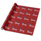 American Dachshund Red White Blue Wrapping Paper