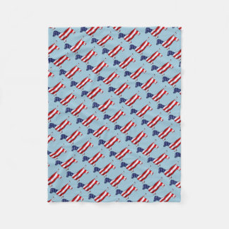 American Dachshund Wiener Dog Fleece Blanket