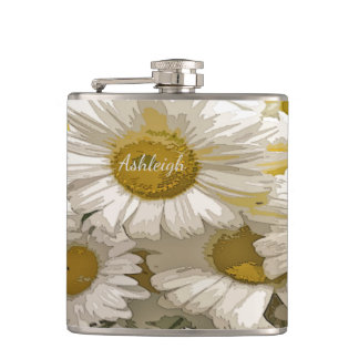 American Daisies Design Flask