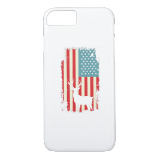 American Deer Hunter Patriotic For Men Women iPhone 8/7 Case