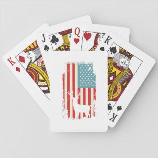American Deer Hunter Patriotic For Men Women Playing Cards
