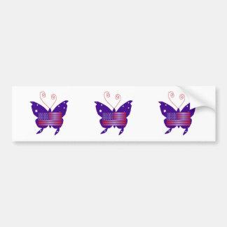 American Diva Butterfly Bumper Sticker