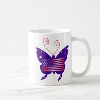 American Diva Butterfly Classic White Coffee Mug