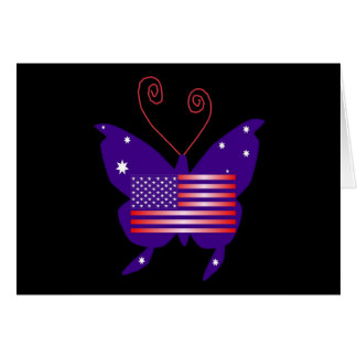 American Diva Butterfly Greeting Card