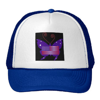American Diva Butterfly Mesh Hats