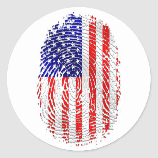 American down to my fingerprints USA pride Classic Round Sticker