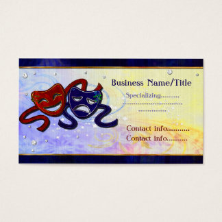American Drama Comedy & Tragedy Business Card