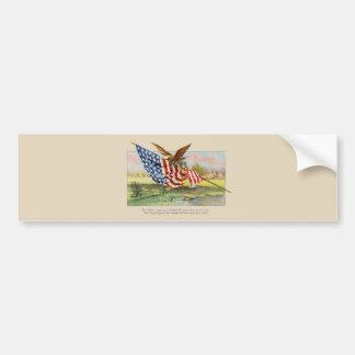 American Eagle and Flag Bumper Sticker
