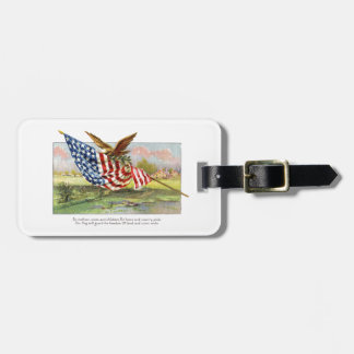 American Eagle and Flag Luggage Tag