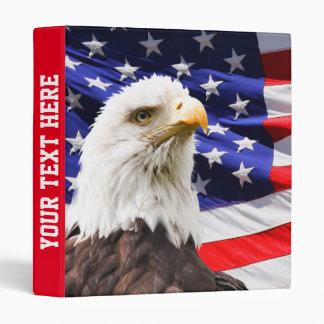 American Eagle and Flag Vinyl Binders