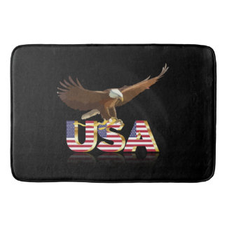 American eagle bathroom mat