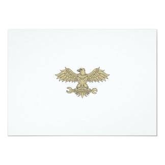 American Eagle Clutching Spanner Drawing Card