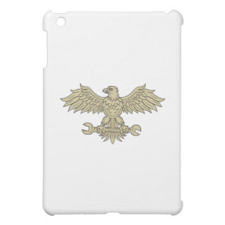 American Eagle Clutching Spanner Drawing Cover For The iPad Mini