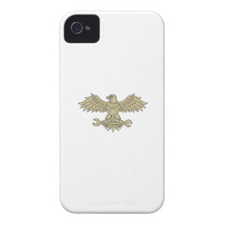 American Eagle Clutching Spanner Drawing iPhone 4 Cover