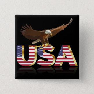 American eagle flag 2 inch square button