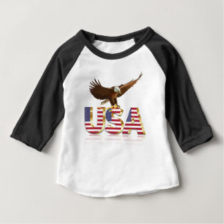 American eagle flag baby T-Shirt