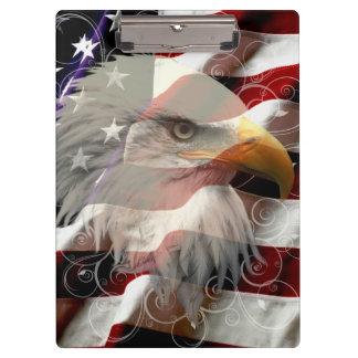 American Eagle Flag Clipboard