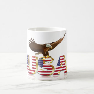 American eagle flag coffee mug