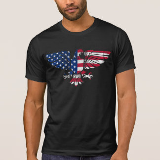American Eagle Flag Design.Black T-Shirt for Men.
