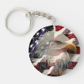 American Eagle Flag Key Chain