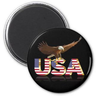 American eagle flag magnet
