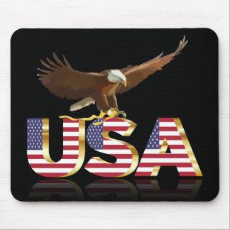 American eagle flag mouse pad