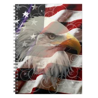 American Eagle Flag Notebook