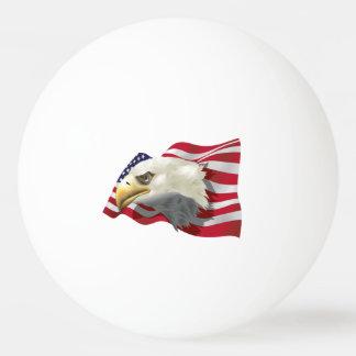 American Eagle Flag Ping Pong Ball
