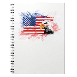 American Eagle, Flagge. The USA, America Notebooks