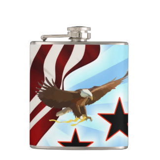 American eagle hip flask