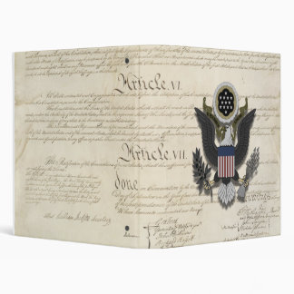 American Eagle on the Constitution Binder