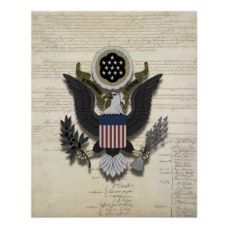 American Eagle on the Constitution Poster