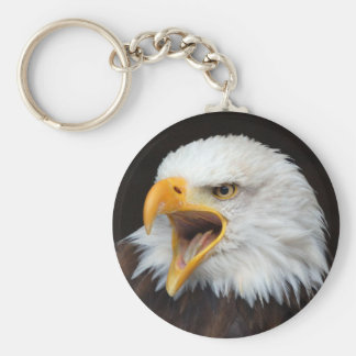 AMERICAN EAGLE - Photography Jean Louis Glineur Basic Round Button Keychain
