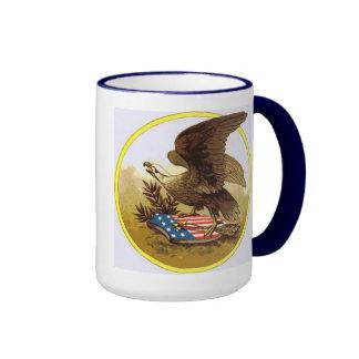 American Eagle Ringer Coffee Mug