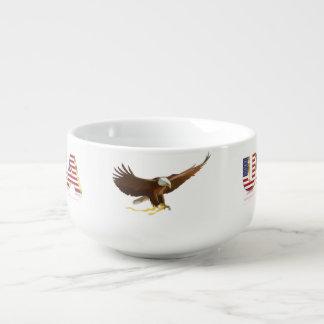 American eagle soup mug