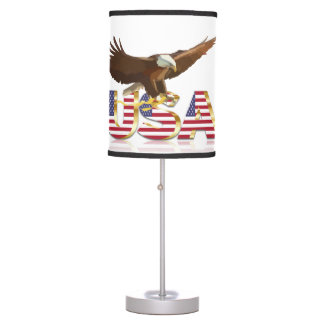 American eagle table lamp