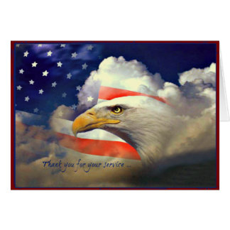 American Eagle Thank You Veterans Day Card