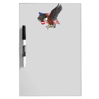 American Eagle with Cross Dry Erase Board