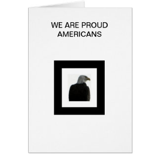 AMERICAN EAGLE WITH THE AMERICAN FLAG CARD