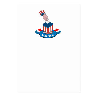 American Election Voting Ballot Box Retro Business Cards