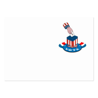 American Election Voting Ballot Box Retro Business Card Template