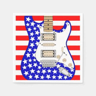 American Electric Guitar Paper Napkins