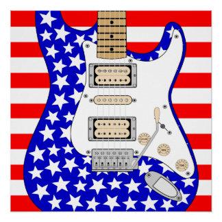 American Electric Guitar Poster