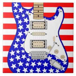 American Electric Guitar Tile